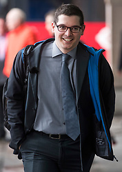 © Licensed to London News Pictures. 27/03/2018. London, UK. PUAL-OLIVER DEHAYE, cofounder of PersonalData.IO, arrives at Portcullis House to appear before a Digital, Culture, Media and Sport Select Committee. Paul-Olivier Dehaye and whistleblower Christopher Wylie have been called to give evidence after Cambridge Analytica was implicated in an investigation into the misuse of Facebook user data to influence the electoral outcomes, including the Brexit referendum. Photo credit: Ben Cawthra/LNP
