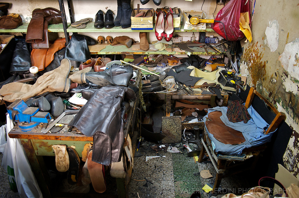 One of the last cobblers' workshop. The material and the tools used have stayed the same for centuries.