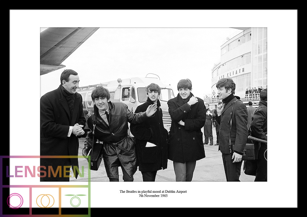 The Beatles arrived at Dublin Airport to play their only gig in the country at the Adelphi Cinema on 7th November 1963 during their Autumn UK Tour. The man you see on the left in this amazing iconic image from the Irish Photo Archive is radio and TV personality Paul Russell.
