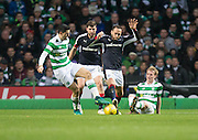 Dundee's Tom Hateley battles for the ball with Celtic's Tomas Rogic - Celtic v Dundee in the Ladbrokes Scottish Premiership at Celtic Park, Glasgow. Photo: David Young<br /> <br />  - © David Young - www.davidyoungphoto.co.uk - email: davidyoungphoto@gmail.com