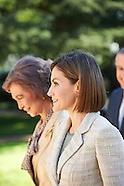 092915 Queen Letizia of Spain and Queen Sofia Attend Audiences in Zarzuela Palace