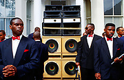 Members of the Nation of Islam, Notting Hill carnival, London, UK 2005