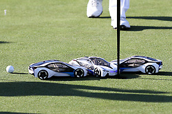 23.06.2015, Golfclub M&uuml;nchen Eichenried, Muenchen, GER, BMW International Golf Open, Show Event, im Bild Die Spieler muessen versuchen mit einem Modellauto den Golfball einzulochen // during the Show Event of BMW International Golf Open at the Golfclub M&uuml;nchen Eichenried in Muenchen, Germany on 2015/06/23. EXPA Pictures &copy; 2015, PhotoCredit: EXPA/ Eibner-Pressefoto/ Kolbert<br /> <br /> *****ATTENTION - OUT of GER*****
