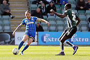 Barry Fuller (Captain) defender for AFC Wimbledon (2) during the Sky Bet League 2 match between Plymouth Argyle and AFC Wimbledon at Home Park, Plymouth, England on 9 April 2016. Photo by Stuart Butcher.