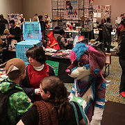 Convention goers browse booths Sunday December 7, 2014 during Aniwave 2014 at the Wilmington Convention Center in Wilmington, N.C. (Jason A. Frizzelle)