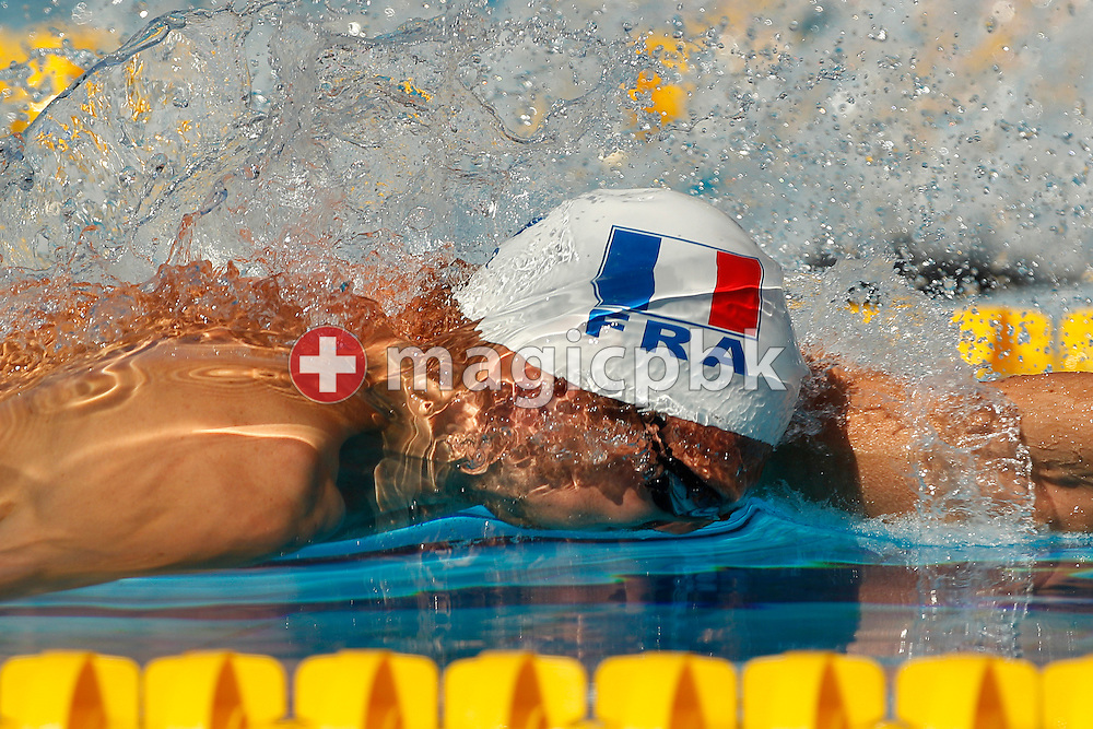 Alain BERNARD of France competes in the men's 100m Freestyle Heats at the European Swimming Championship at the Hajos Alfred Swimming complex in Budapest, Hungary, Thursday, Aug. 12, 2010. (Photo by Patrick B. Kraemer / MAGICPBK)
