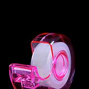 An office sticky tape dispenser