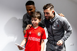 Rodri and Niclas Eliasson as Mascots meet the players - Rogan/JMP - 30/11/2019 - Ashton Gate Stadium - Bristol, England - Bristol City v Huddersfield Town - Sky Bet Championship.