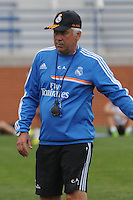 Football - Real Madrid Training for St. Louis Game against Inter Milan.  The Real Madrid team held a practice session on Thursday August 8, 2013 in St. Louis, Missouri, USA at the Robert Hermann Stadium located on the campus of St. Louis University in St. Louis.  Head coach Carlo Ancelloti.