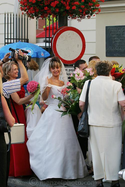 Old Town Square wedding. Warsaw, Poland.