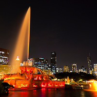 Buckingham Fountain Chicago high resolution photo.
