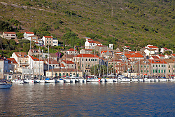 Waterfront of the town/island of Vis, just off the Croatian coast. Founded in 397 B.C., it is the oldest town in Croatia.