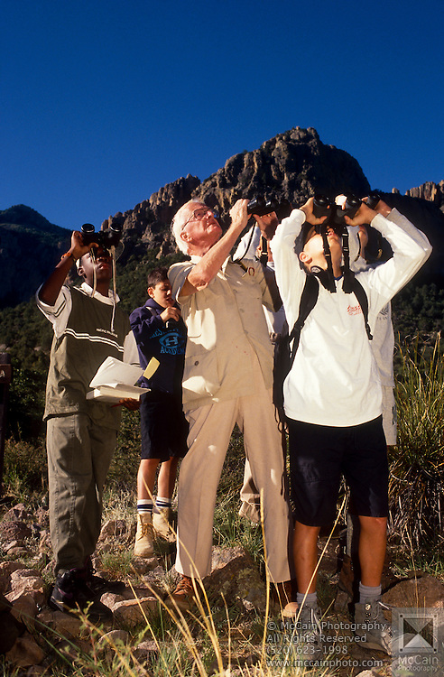 Led by Roger Tory Peterson and Victor Emanuel, the group scans for hawks and eagles, Chiricahua Mountains, Arizona..Media Usage:.Subject photograph(s) are copyrighted Edward McCain. All rights are reserved except those specifically granted by McCain Photography in writing...McCain Photography.211 S 4th Avenue.Tucson, AZ 85701-2103.(520) 623-1998.mobile: (520) 990-0999.fax: (520) 623-1190.http://www.mccainphoto.com.edward@mccainphoto.com.