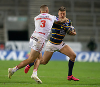 Rugby League - 2020 / 2021 Coral Challenge Cup - Quarter-final - Leeds Rhinos vs Hull Kingston Rovers<br /> <br /> Leeds Rhinos's Alex Mellor is tackled, at the TW Stadium.