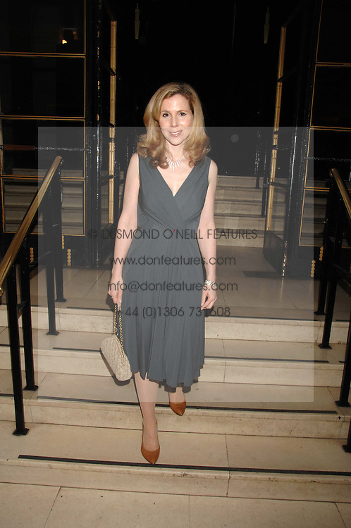 Actress SALLY PHILLIPS at 'Figures of Speech' a fundraising gala dinner in aid of the ICA held at the Lawrence Hall, Greycoat Street, London on 27th February 2008.<br />