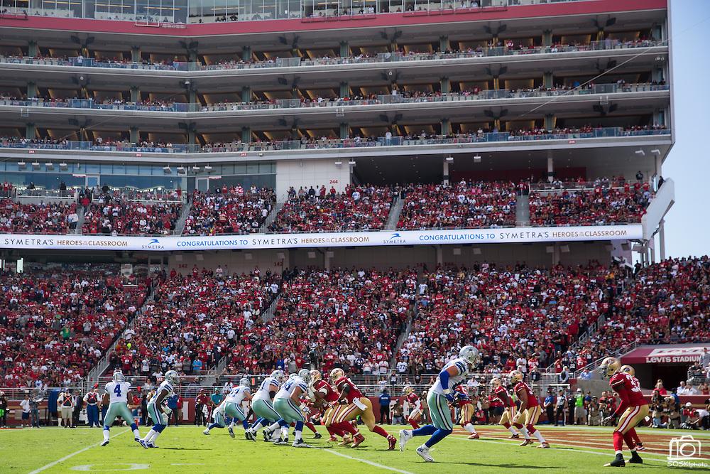 The San Francisco 49ers host the Dallas Cowboys at Levis Stadium in Santa Clara, Calif., on October 2, 2016. (Stan Olszewski/Special to S.F. Examiner)