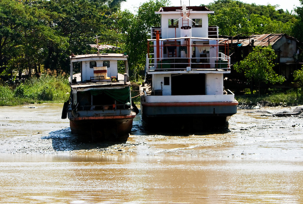 Yangon to Twante by boat, Myanmar.