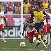 Isaac Hayden, Arsenal, in action during the New York Red Bulls Vs Arsenal FC,  friendly football match for the New York Cup at Red Bull Arena, Harrison, New Jersey. USA. 26h July 2014. Photo Tim Clayton