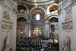 General view of the service to commemorate National Police Memorial Day at St Paul's Cathedral in central London.