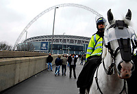 Photo: Alan Crowhurst.<br /> England U21 v Italy U21. International Friendly. 24/03/2007. The white police horse returns to Wembley.