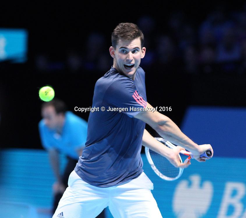 DOMINIC THIEM (AUT), ATP World Tour Finals, O2 Arena, London, England.<br /> <br /> Tennis - ATP World Tour Finals 2016 - ATP -  O2 Arena - London -  - Great Britain  - 13 November 2016. <br /> &copy; Juergen Hasenkopf/Grieves