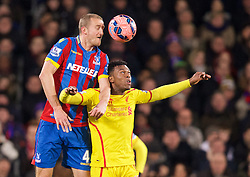 LONDON, ENGLAND - Saturday, February 14, 2015: Liverpool's Daniel Sturridge in action against Crystal Palace's Brede Hangeland during the FA Cup 5th Round match at Selhurst Park. (Pic by David Rawcliffe/Propaganda)