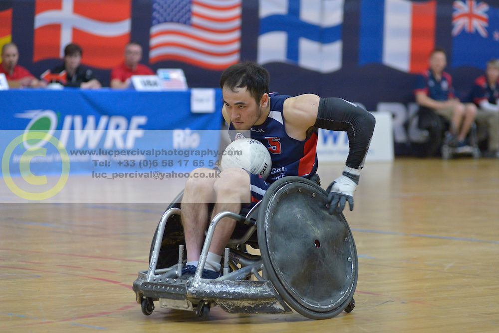 France V USA at the 2016 IWRF Rio Qualifiers, Paris, France
