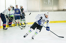 Anze Kopitar, NHL star and player of Los Angeles Kings during practice session and press conference before departure to USA, on September 3, 2014 in Ledna dvorana Bled, Slovenia. Photo by Vid Ponikvar  / Sportida.com