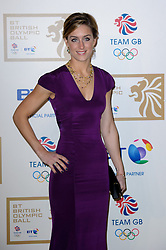 Skeleton racer Amy Williams during the BT Olympic Ball, held at the Grosvenor Hotel, London, UK, November 30, 2012. Photo By Anthony Upton / i-Images.