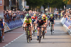 Lisa Brennauer wins sprint finish ahead of Chloe Hosking at Boels Rental Ladies Tour Stage 4 a 121.4 km road race from Gennep to Weert, Netherlands on September 1, 2017. (Photo by Sean Robinson/Velofocus)
