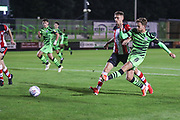 Forest Green Rovers Dayle Grubb(8) shoots at goal scores a goal 2-1  during the EFL Trophy match between Forest Green Rovers and U21 Southampton at the New Lawn, Forest Green, United Kingdom on 3 September 2019.