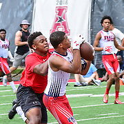 7 on 7 football competition at Temple University