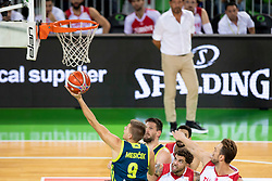 Blaz Mesicek of Slovenia during basketball match between National teams of Slovenia and Turkey in Round #8 of FIBA Basketball World Cup 2019 European Qualifiers, on September 17, 2018 in Arena Stozice, Ljubljana, Slovenia. Photo by Urban Urbanc / Sportida
