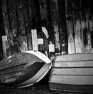 Boats next to a boat shed in Kerikeri, New Zealand
