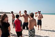 Bondi Rescue Guards train children in sea rescue in Dubai on Saturday, Oct30, 2010
