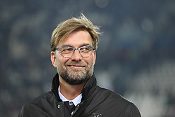 24.02.2015, Juventus Stadium, Turin, ITA, UEFA CL, Juventus Turin vs Borussia Dortmund, Achtelfinale, Hinspiel, im Bild Chef-Trainer Juergen Klopp (Borussia Dortmund) gut gelaunt, lacht // during the UEFA Champions League Round of 16, 1st Leg match between between Juventus Turin and Borussia Dortmund on at the Juventus Stadium in Turin, Italy on 2015/02/24. EXPA Pictures © 2015, PhotoCredit: EXPA/ Eibner-Pressefoto/ Kolbert<br /> <br /> *****ATTENTION - OUT of GER*****