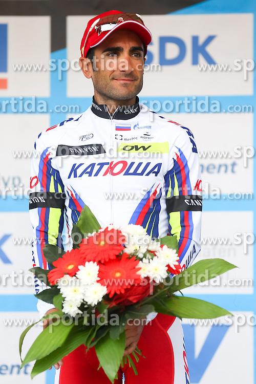 Radsport: 36. Bayern Rundfahrt 2015 / 5. Etappe, Hassfurt - Nuernberg, 17.05.2015<br /> Cycling: 36th Tour of Bavaria 2015 / Stage 5, <br /> Hassfurt - Nuernberg, 17.05.2015<br /> Siegerehrung - podium, # 45 Lagutin, Sergey (RUS, TEAM KATUSHA)