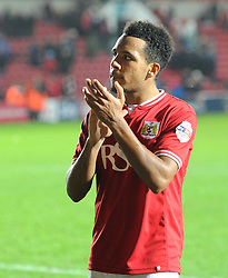 Korey Smith of Bristol City acknowledges supporters after the Sky Bet Championship game against QPR - Mandatory by-line: Paul Knight/JMP - Mobile: 07966 386802 - 19/12/2015 -  FOOTBALL - Ashton Gate Stadium - Bristol, England -  Bristol City v Queens Park Rangers - Sky Bet Championship