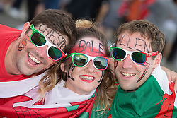 TOULOUSE, FRANCE - Monday, June 20, 2016: Wales supporters ahead of the final Group B UEFA Euro 2016 Championship match against Russia at Stadium de Toulouse. (Pic by Paul Greenwood/Propaganda)