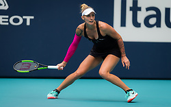 March 24, 2019 - Miami, FLORIDA, USA - Polona Hercog of Slovenia in action during her third-round match at the 2019 Miami Open WTA Premier Mandatory tennis tournament (Credit Image: © AFP7 via ZUMA Wire)