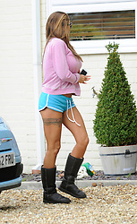 Katie Price arrives at the home of Jane Pountney, Pulborough, West Sussex, UK, Wednesday, 7th May 2014. Picture by i-Images
