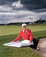Robert Trent Jones on a golf course of his design.