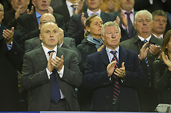 17.09.2012, Goodison Park, Liverpool, ENG, Premier League, FC Everton vs Newcastle United, 4. Runde, im Bild Manchester United manager Alex Ferguson and assistant Mike Phelan stand for a minute's applause to remember the 96 victims of the Hillsborough Stadium Disaster before the English Premier League 4th round match between Everton FC and Newcastle United at the Goodison Park, Liverpool, Great Britain on 2012/09/17. EXPA Pictures © 2012, PhotoCredit: EXPA/ Propagandaphoto/ David Rawcliff..***** ATTENTION - OUT OF ENG, GBR, UK *****