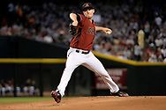 PHOENIX, AZ - JULY 26:  Patrick Corbin #46 of the Arizona Diamondbacks delivers a pitch in the first inning of the MLB game against the Atlanta Braves at Chase Field on July 26, 2017 in Phoenix, Arizona.  (Photo by Jennifer Stewart/Getty Images)