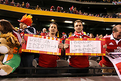 © Licensed to London News Pictures. 29/6/2013. British & Irish Lions fans during the British & Irish Lions 2nd test between Qantas Wallabies Vs British & Irish Lions at Etihad Stadium, Melbourne, Australia. Photo credit : Asanka Brendon Ratnayake/LNP