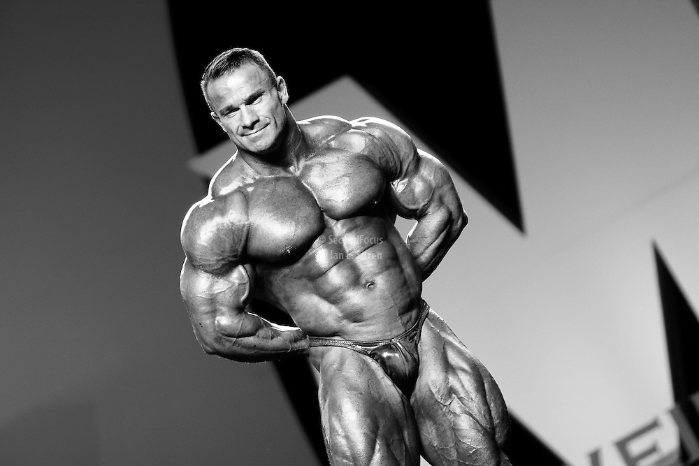 Ronny Rockel competing at the 2010 Mr. Olympia finals in Las Vegas.