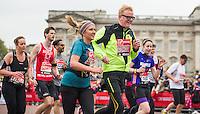 Radio DJ Chris Evans during The Virgin Money London Marathon, Sunday 26th April 2015.<br /> <br /> Photo: Jon Buckle for Virgin Money London Marathon<br /> <br /> For more information please contact Penny Dain at pennyd@london-marathon.co.uk