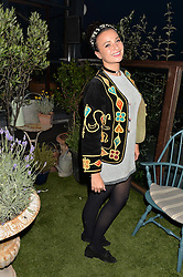GIZZI ERSKINE at the Warner Music Group & GQ Summer Drinks hosted in asociation with Quintessentially at Shoreditch House, Ebor Street, London on 6th July 2016.