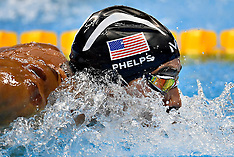 20160808 Rio 2016 Olympics - Svømning Mie Ø Nielsen finale - Bromer - Phelps