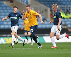 Oxford United's Deane Smalley is chased down by Southend United's Adam Thompson - Photo mandatory by-line: Nigel Pitts-Drake/JMP - Tel: Mobile: 07966 386802 05/10/2013 - SPORT - FOOTBALL - Kassam Stadium - Oxford - Oxford United v Southend United - Sky Bet League 2